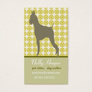 Animal and Stars. Cute Dog Business Card