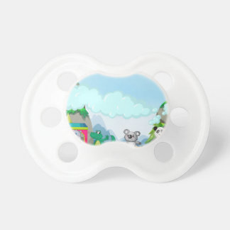 Animal and train baby pacifiers