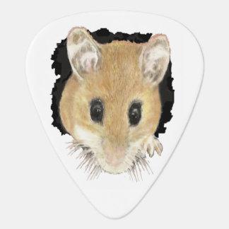 Animal Art Cute Mouse Peeking Out Watercolor art Guitar Pick