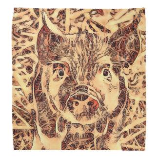Animal ArtsStudio- amazing piglet Bandanas