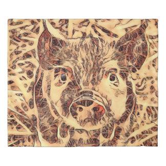 Animal ArtsStudio- amazing piglet Duvet Cover
