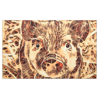 Animal ArtsStudio- amazing piglet Fabric