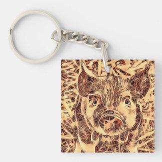 Animal ArtsStudio- amazing piglet Keychain