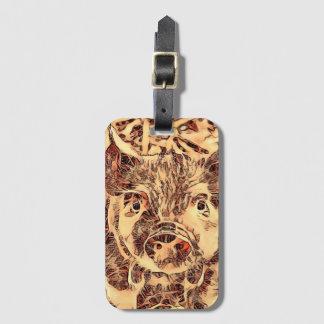Animal ArtsStudio- amazing piglet Luggage Tag