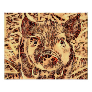 Animal ArtsStudio- amazing piglet Poster