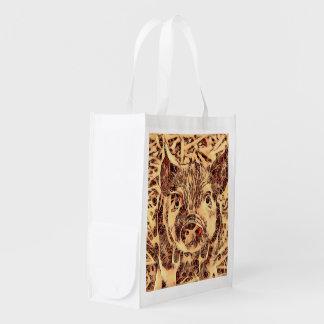 Animal ArtsStudio- amazing piglet Reusable Grocery Bag