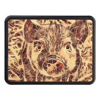 Animal ArtsStudio- amazing piglet Trailer Hitch Cover