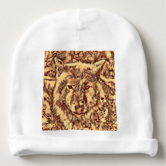 Animal ArtsStudio- amazing wolf Baby Beanie