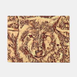 Animal ArtsStudio- amazing wolf Doormat