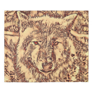 Animal ArtsStudio- amazing wolf Duvet Cover