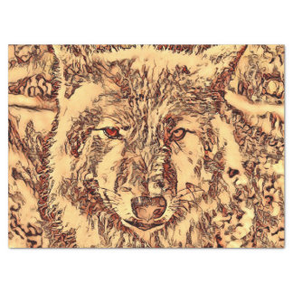 Animal ArtsStudio- amazing wolf Tissue Paper