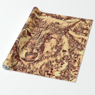 Animal ArtsStudio- amazing wolf Wrapping Paper