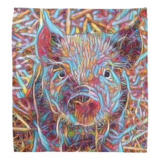 Animal ArtStudio- funky piglet Bandanna