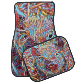 Animal ArtStudio- funky piglet Car Mat