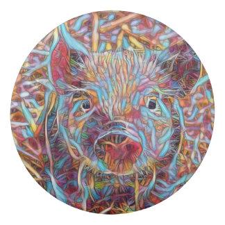 Animal ArtStudio- funky piglet Eraser