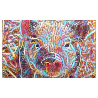 Animal ArtStudio- funky piglet Fabric