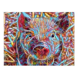 Animal ArtStudio- funky piglet Postcard