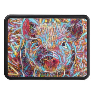 Animal ArtStudio- funky piglet Trailer Hitch Cover