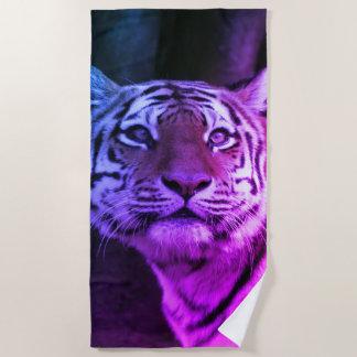 Animal ArtStudio Strong tiger Beach Towel