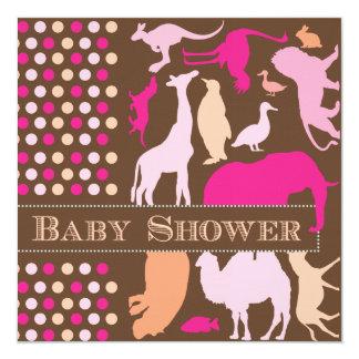 Animal Baby Shower Invitation
