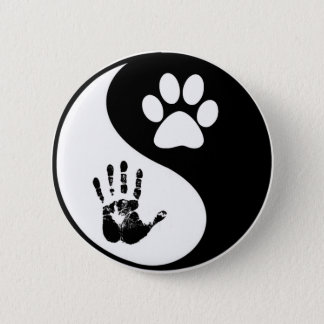 Animal Balance and Harmony 2 Inch Round Button