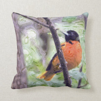 Animal Bird Baltimore Oriole Throw Pillow