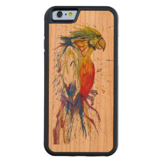 Animal Bird Parrot Carved Cherry iPhone 6 Bumper Case