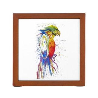 Animal Bird Parrot Desk Organizer
