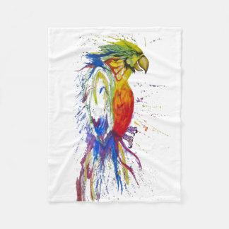 Animal Bird Parrot Fleece Blanket