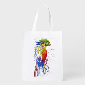 Animal Bird Parrot Reusable Grocery Bag