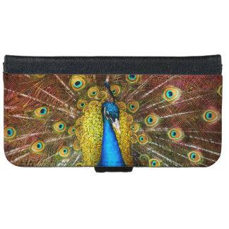 Animal - Bird - Peacock proud iPhone 6 Wallet Case
