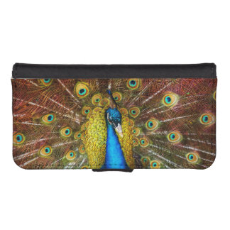 Animal - Bird - Peacock proud iPhone SE/5/5s Wallet Case
