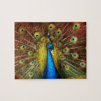Animal - Bird - Peacock proud Jigsaw Puzzle