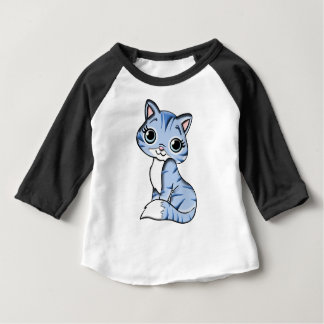 Animal Blue Cartoon Cat Feline Pet Baby T-Shirt