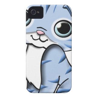 Animal Blue Cartoon Cat Feline Pet Case-Mate iPhone 4 Case