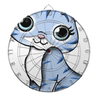 Animal Blue Cartoon Cat Feline Pet Dartboard