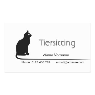 Animal care pack of standard business cards