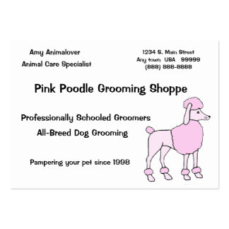 Animal Care Specialist Large Business Card
