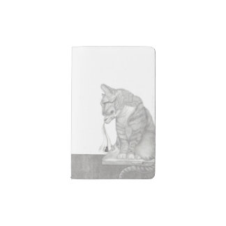 Animal Cat Catches Digital Mouse Notebook