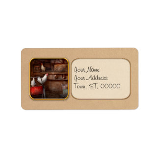 Animal - Chicken - The duck is a spy Personalized Address Label