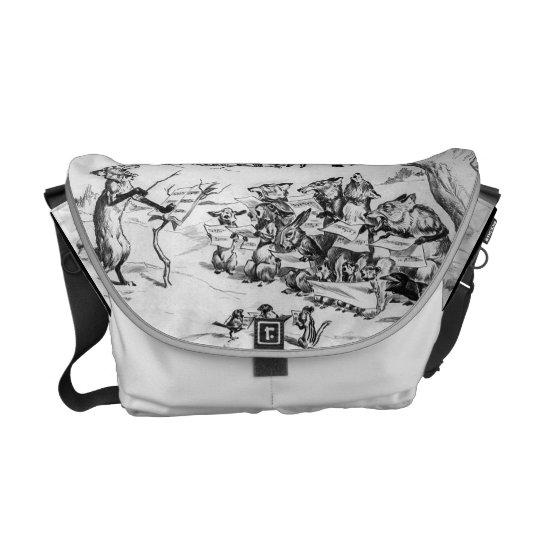 Animal Chorus by Pughe - Vintage Rickshaw Bag Courier Bag