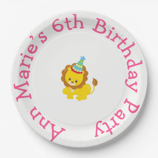 Animal Circus Train Kids Birthday in Pink Paper Plate