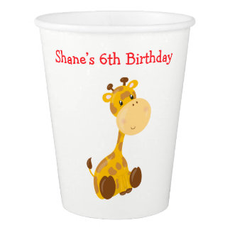 Animal Circus Train Kids Birthday in Red Paper Cup