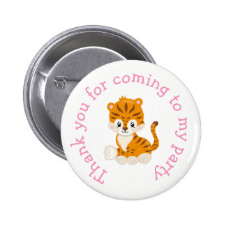 Animal Circus Train Kids 'Thank you for coming' 2 Inch Round Button