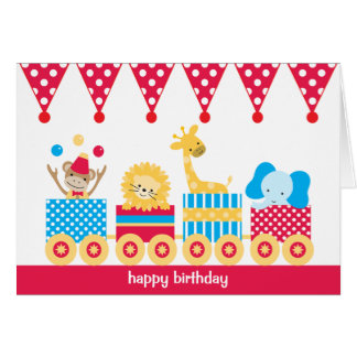 Animal Circus Train Note Cards