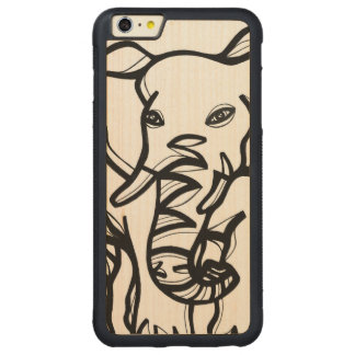 Animal Clever Fabulous Lovely Carved Maple iPhone 6 Plus Bumper Case