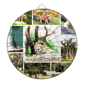 Animal Collage Dartboard