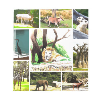 Animal Collage Notepad