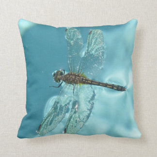 Animal Collection - Dragonfly on Water Throw Pillow