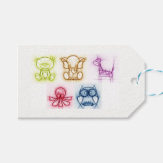 Animal Colors Gift Tags